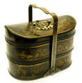 Leather Large Basket Black