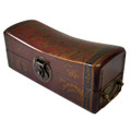 Leather Pillow Box Red