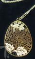 Chrysanthemum Laser Cut Gold Necklace