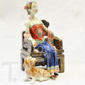 Ceramic Lady 25 Lg Chair with Dog