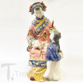 Porcelain Shanghai Lady Holding Candle For Boy