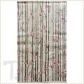 Vertical Cherry Blossom Linen Noren Curtain