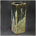 Blue and Earth Ink Rectangular Wall Vase