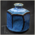 Blue Hexagonal Bud Vase