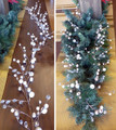 Garland application on a tablescape