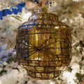 "5"" Mercury Glass Lantern Ornament"