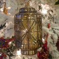 Gold Mercury Glass Lantern Ornament