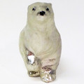 Glass Polar Bear Ornament in Silvery White