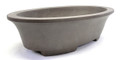 Purple Clay Oval Bonsai Pot 13x8x3in