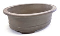 Purple Clay Oval Bonsai Pot 9.5X7.5X3in