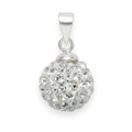 Silver Clear disco ball pendant 10mm - many tiny crystals 4800CL