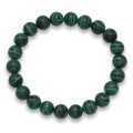 Malachite elasticated bracelet -  8mm beads 3529MAL