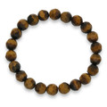 Faceted Tiger's eye elasticated bracelet 8mm beads 3530TE