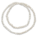 "Freshwater pearls elasticated Necklace - White - Pearl size 5mm x 5mm - length: 20"" 8424WH"