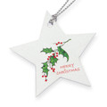 Gift tag tie-on with Merry Christmas & holly design, matches our holly box GTHOLLY