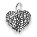 Angel Wings heart shaped Pendant - Size: 15mm 8147
