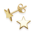Gold Plated Sterling Silver Star stud Earrings - SIZE: 7mm. 5229GP