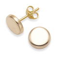 Rose Gold Plated Sterling Silver Round stud Earrings - SIZE: 8mm. 5344RGP