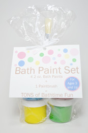 Natural bath paints from Garden Girl. Paraben-free, sulfate-free, phthalate-free. Tons of fun!