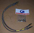 "Goodridge Steel Braided Brake Lines (hoses), 4"" extended – Rear Only – RRC / Discovery 1 / D90"