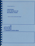 Criteria for Design of Bearing Pads - ISBN#9780937040249