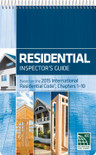 Residential Inspector's Guide: Based on the 2015 International Residential Code Chapters 1-10 - ISBN#9781609836191