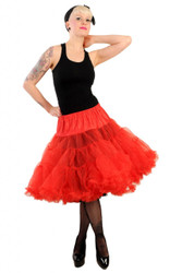 Hell Bunny LONG Red Petticoat underskirt 62cm 5180
