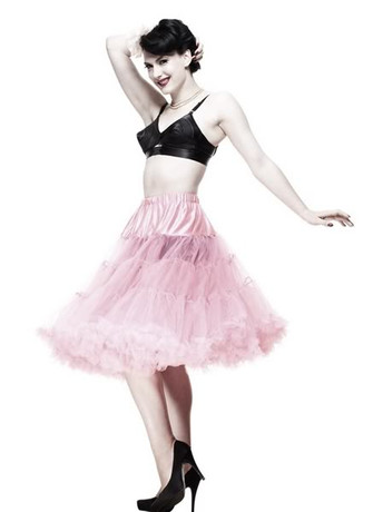 Trash Monkey ** Hell Bunny Long Petticoat - 62cm Dolly Pink