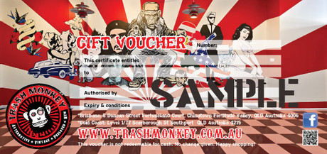 TRASH MONKEY GIFT Voucher - $50
