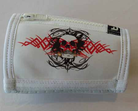 Trash Monkey** ITZ Arm Wallet Gothic Skull - White