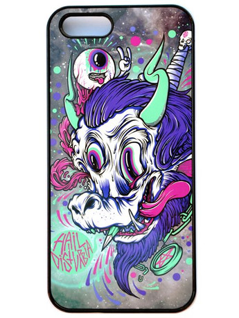 "Trash Monkey ** DISTURBIA - ""Space Goat"" iPhone Case"