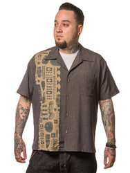 Trash Monkey ** Steady Clothing - Easter Island Single Panel Shirt in Charcoal