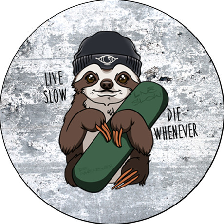 Randy Snitch - Live Slow, Die Whenever Pin Badge