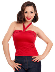 Steady Clothing - 50s Sun Top in Red