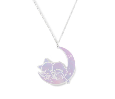 Trash Monkey ** Hello Kitty Little Twin Starry Moon Necklace