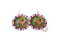 Trash Monkey ** Bottle Top Frida Earrings (Front)