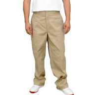 Trash Monkey** Dickies Khaki Double Knee Mens Work Pants