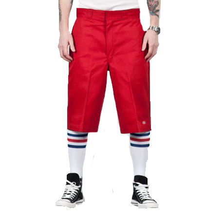 Trash Monkey** Dickies Red Multi Pocket Mens Work Shorts