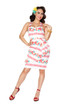 Trash Monkey ** Bettie Page - Hilo Honey Sarong Dress in Pineapple