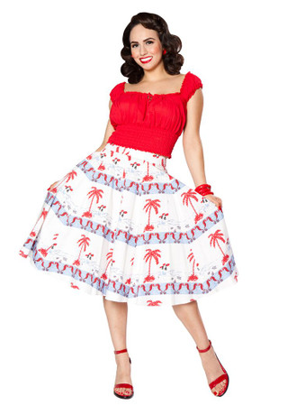Trash Monkey ** Hilo Honey Sea Breeze Skirt in Bettie By The Bay
