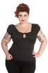 Trash Monkey ** Hell Bunny - Miranda Top Plus Size in Polkadot