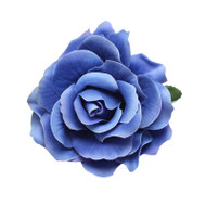 Trash Monkey ** Royal Blue Rose Flower Hair Clip