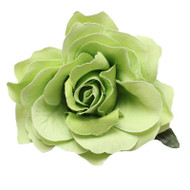 Trash Monkey ** Green Hair Rose Flower Clip