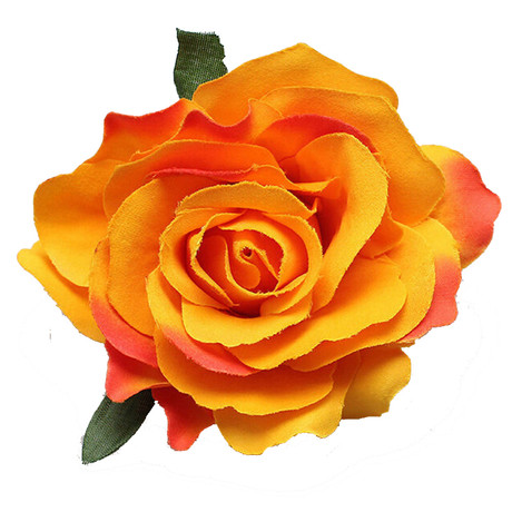 Trash Monkey ** Orange Rose Flower Hair Clip
