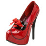 Trash Monkey ** BORDELLO TEEZE 01 Red & Black Patent Platforms
