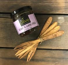 Olive Wood Serving Forks - Set of Four