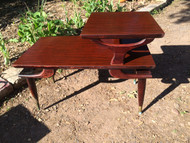 Pair on Mahogany Modern End Tables
