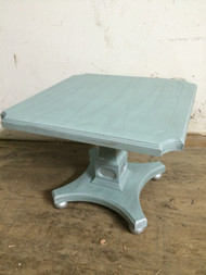 Duck Egg w/ Silver Leaf Chalk Painted Accent Table
