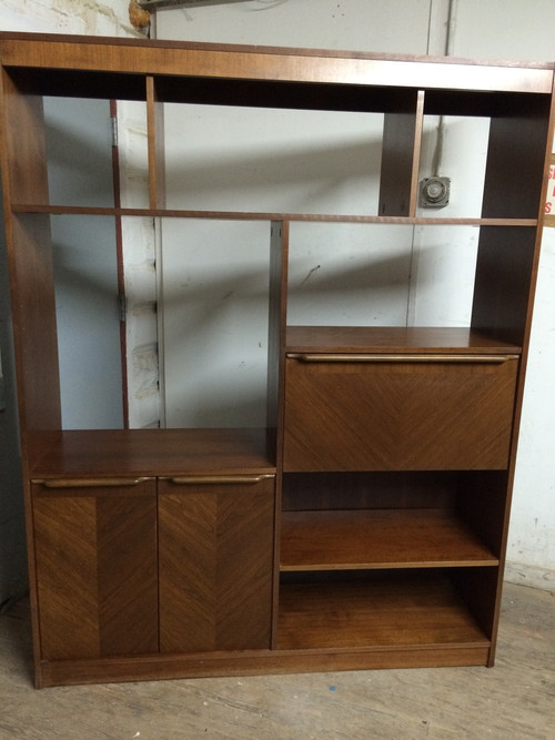 Mid Century Modern Wall Unit Room Divider Forgotten