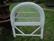 Twin White Wicker Headboard